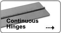 Image of Continuous Hinges that links to our list of in-stock hinges.