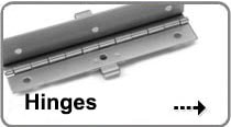 An image of Hinges that links to our full list of custom and specialty hinges S&D Products offers.